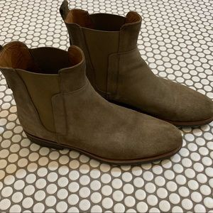 Vince sand suede Chelsea boots